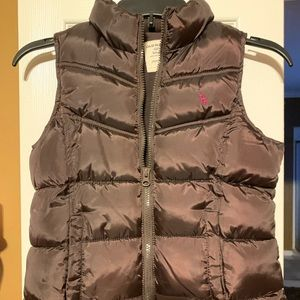 Girls puffy vest with pink deer on it 💕